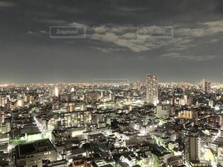 風景,空,夜景,都市の景観