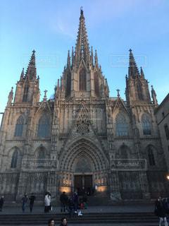 風景,空,建物,屋外,古い,都会,大きい,教会,バルセロナ,大聖堂,カテドラル,尖塔