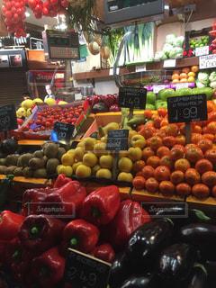 食べ物,風景,果物,トマト,野菜,市場,バルセロナ,マーケット,食材,リンゴ,販売