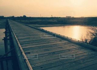 風景,空,橋,夕暮れ,川,水面,流れ橋,上津屋橋