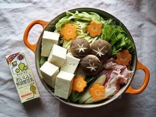 野菜たっぷり豆乳鍋の写真・画像素材[3812128]