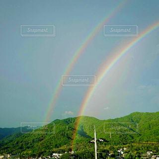 自然,空,屋外,虹,山,鮮やか