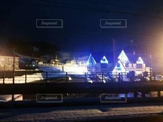 田舎のクリスマスの写真・画像素材[3377805]
