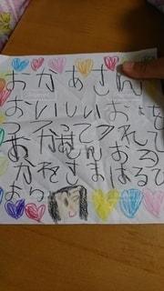 母の日娘からメッセージの写真・画像素材[3176240]