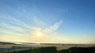 自然,風景,海,空,夕日,絶景,海水浴,屋外,海外,ビーチ,雲,青空,砂浜,水面,海岸,草,釜山,海水浴場,日中,遠浅