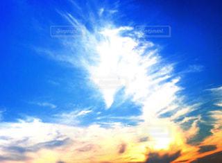 #青,#空,#夕暮れ,#雲,#神秘的,#スカイ,#空模様