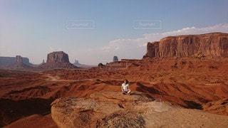峡谷の男の写真・画像素材[3226967]