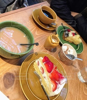 食イチゴケーキの写真・画像素材[3253345]