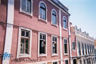 空,建物,ピンク,窓,日常,家,旅行,アパート,パステル,生活,ポルトガル,建築,life,改装,リスボン,ペンキ塗り