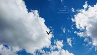 風景,空,太陽,雲,晴天,青,飛行機,飛ぶ,明るい,航空機,くもり,高い,上を見上げる