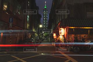 風景,夜,夜景,絶景,屋台,台湾,レーザービーム,台北,台北101