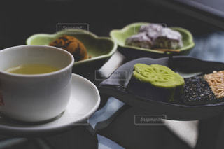 食べ物,屋内,和菓子,テーブル,皿,食器,カップ,お茶,台湾,菓子