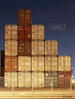 風景,夜,屋外,アーキテクチャ,貨物コンテナー