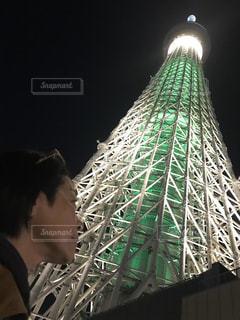 夜景,スカイツリー,タワー,都会,ライトアップ