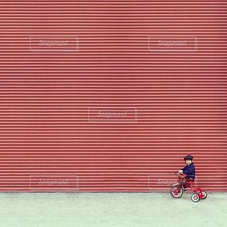 赤,子供,イタリア,ベネチア,三輪車