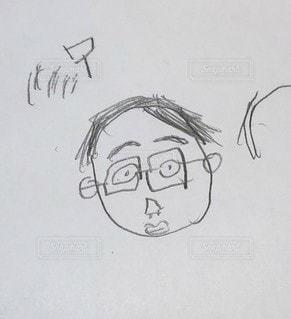 子ども,屋内,アート,子供,ペン,パパ,鉛筆,父,手書き,紙,父の日,似顔絵,おえかき,スケッチ,おうち時間