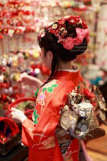 女の子,着物,人,髪飾り,和服,お祝い,伝統,帯,和装,日本髪,十三詣り