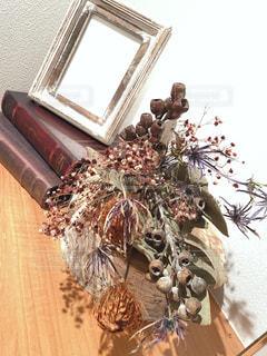 花,家,プレゼント,写真立て,玄関,落ち着く,お友達