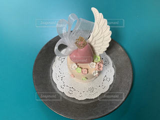ケーキ,屋内,お花,ハート,カップケーキ,誕生日ケーキ,クレイ,粘土細工,オーガンジー,食べれません,高見沢さん的ウイング,全部粘土,クレイアート