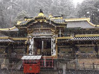 神社,雪景色,旅行,日光東照宮,フォトジェニック