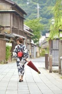 小江戸佐原と浴衣女性の写真・画像素材[3594830]