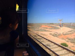 空,屋外,緑,草,旅行,旅,オーストラリア,鉄道,草木,レジャー・趣味,大陸横断