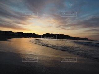自然,風景,海,空,朝日,ビーチ,雲,砂浜,海辺,水面,海岸,正月,お正月,日の出,新年,初日の出
