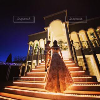 風景,結婚式,ドレス,ナイトフォト,結婚式ドレス