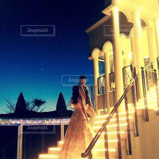 結婚式,前撮り,チャペル,ナイトフォト,結婚式ドレス