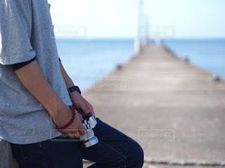 男性,風景,海,空,カメラ,海岸,人,フォトジェニック,カメラ男子,インスタ映え