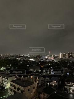 空,建物,夜,夜景,屋外,都会,高層ビル,都市の景観