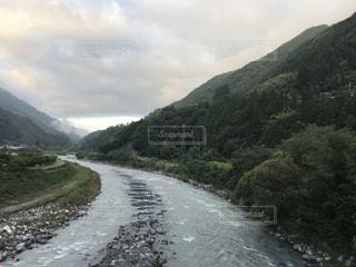 自然,風景,空,屋外,川,山,河川敷
