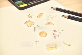 屋内,ペン,色鉛筆,紙,おえかき,色鉛筆画,静止,おうち時間
