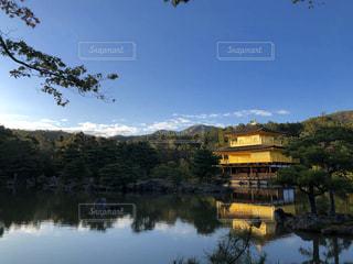 自然,屋外,水面,池,景色,反射,金閣寺