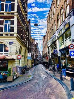 風景,空,建物,屋外,海外,ヨーロッパ,街,観光,都会,道,旅行,旅,歩道,欧州,オランダ,アムステルダム,レジャー,通り