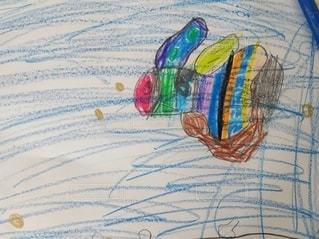 魚,緑,イラスト,赤,かわいい,カラフル,青,水,オレンジ,楽しい,ペン,金魚,虹色,紙,おえかき,創造,黄緑,スケッチ,おうち時間