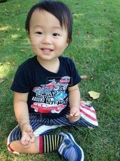 笑顔の男の子の写真・画像素材[3423058]