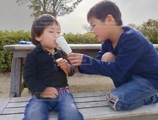 仲良しアイスクリーム♪の写真・画像素材[3602625]