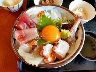海鮮丼のクローズアップの写真・画像素材[4331090]
