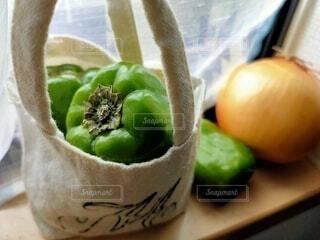エコバッグと野菜の写真・画像素材[4424270]