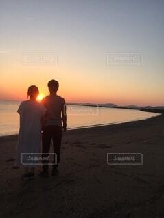 日の出を見にの写真・画像素材[4770141]