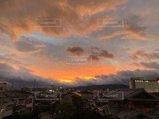 風景,空,建物,屋外,雲,夕暮れ,台風