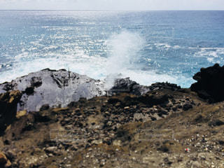 自然,風景,海,屋外,青,海岸,岩,噴水,海水,日中,地肌