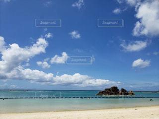 自然,海,空,砂浜,水面