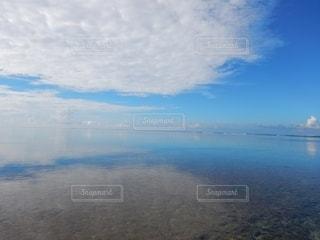 自然,海,空,国内,ビーチ,雲,青空,青,水面,海岸,沖縄,景色,鏡,旅行,黒島,離島,眺め
