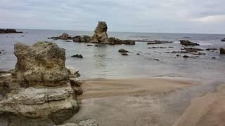 自然,風景,海,空,ビーチ,砂浜,水面,海岸,岩