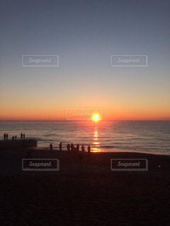 風景,海,空,太陽,夕暮れ,朝焼け,地平線,日の出