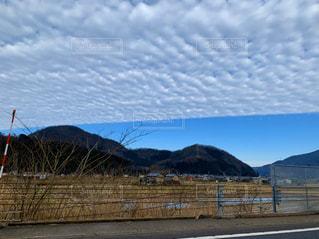 自然,風景,空,屋外,白,青,山,ブルー,高原,ホワイト,クラウド