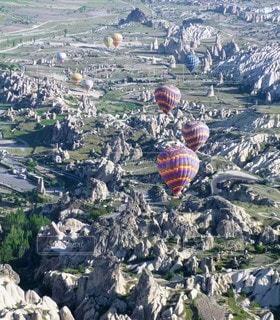 自然,屋外,白,気球,世界遺産,山,旅行,海外旅行