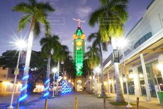 夜に明るくした街の写真・画像素材[4065647]